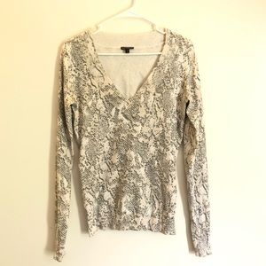 Express Snaked Printed V-neck sweater